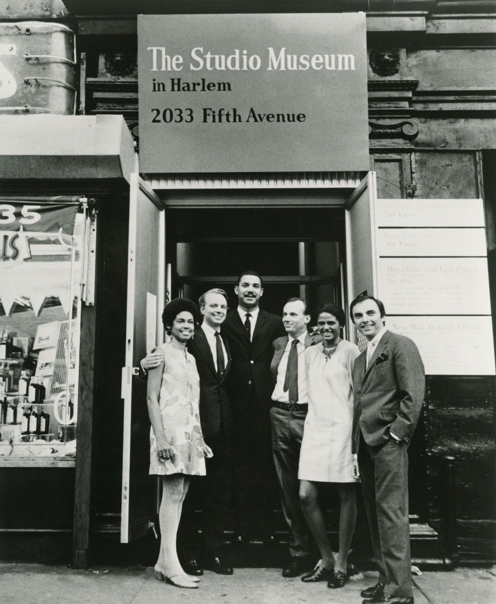 Eleanor Holmes Norton, Carter Burden, Charles E. Inniss, Campbell Wylly, Betty Blayton-Taylor, and Frank Donnelly at The Studio Museum in Harlem on opening night