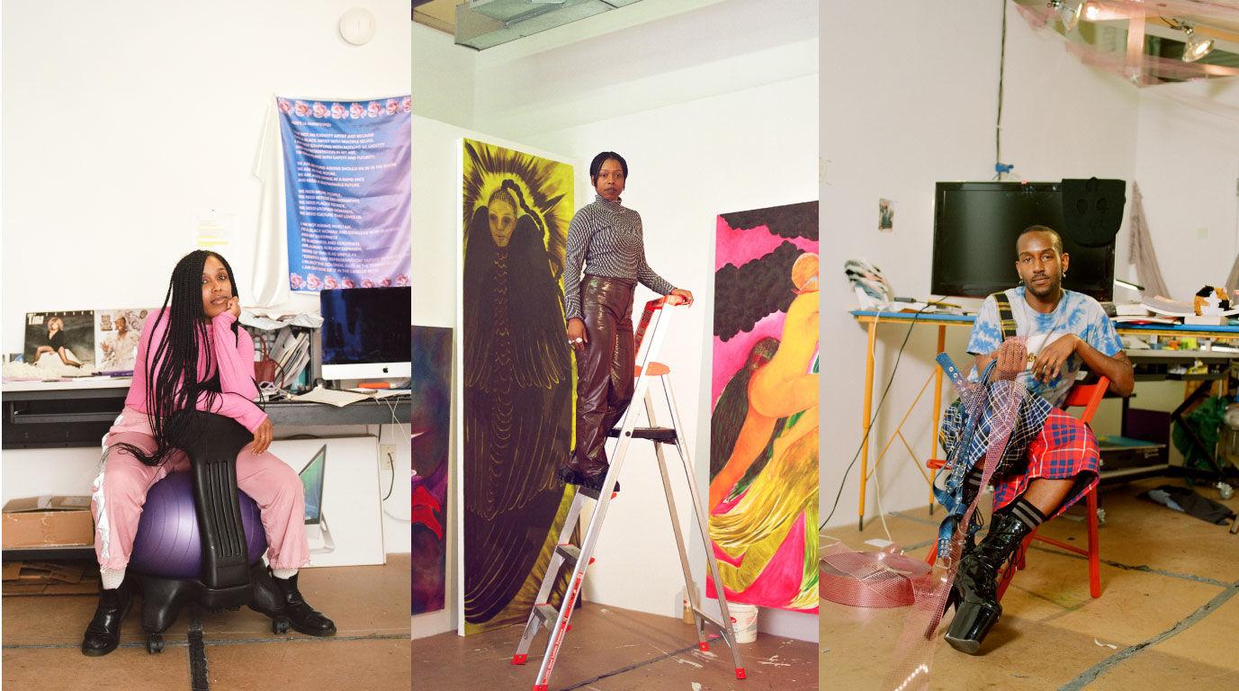 2019-20 Studio Museum Artists in Residence in their studios in photos taken by Myles Loftin