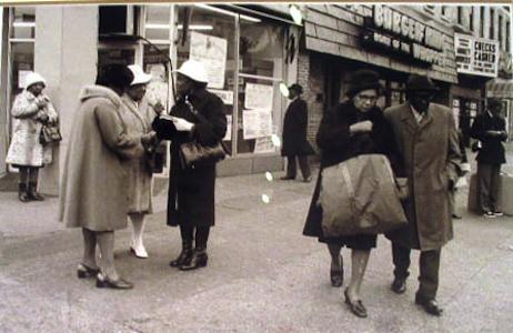 Jules T. Allen - Black Eyes / Light Series (Man Standing on Corner)